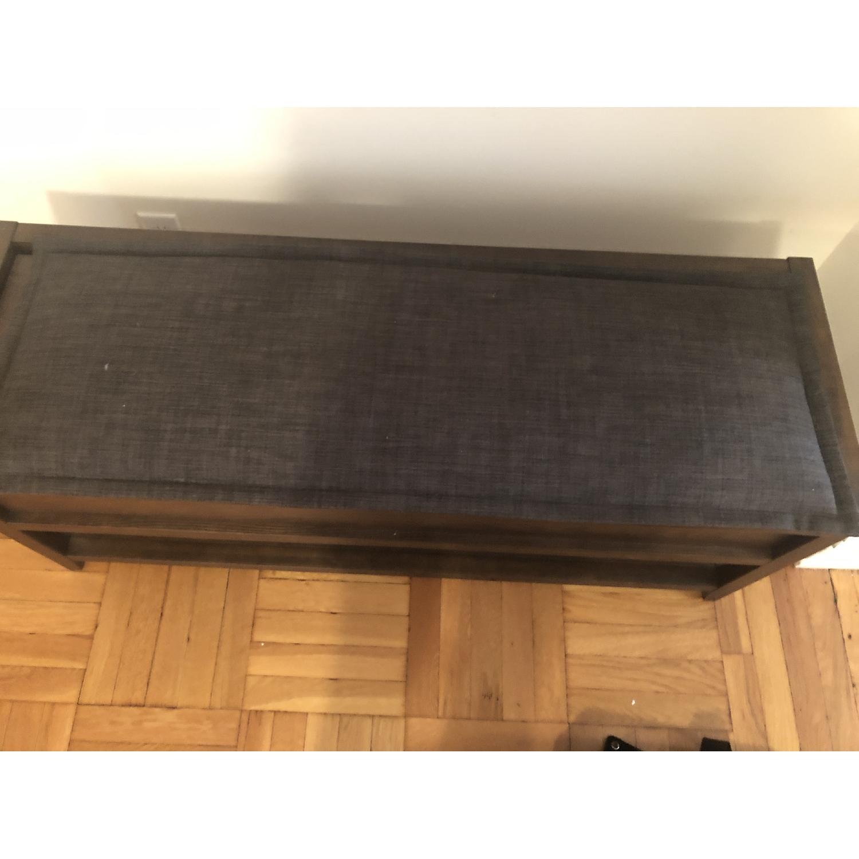 Crate & Barrel Entryway Storage Bench w/ Cushion-0