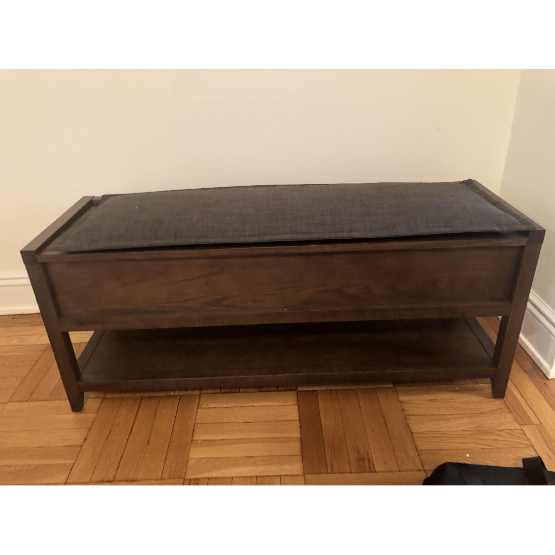 Crate & Barrel Entryway Storage Bench w/ Cushion-1