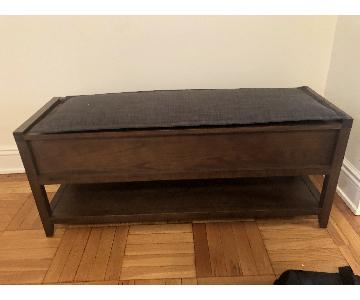 Crate & Barrel Entryway Storage Bench w/ Cushion