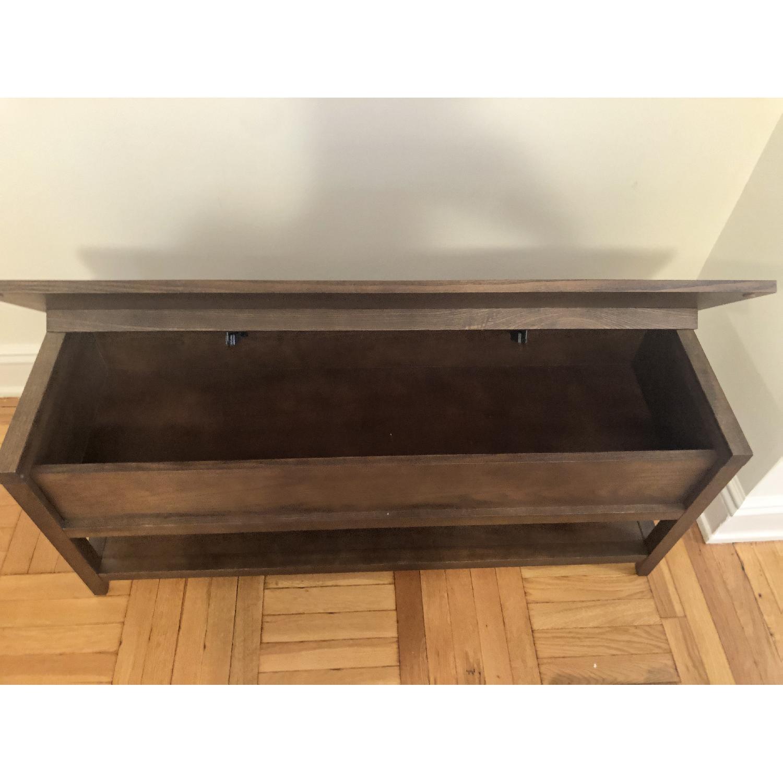 Crate & Barrel Entryway Storage Bench w/ Cushion-3
