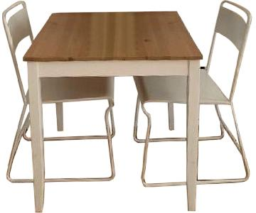 CB2 Square Dining Table w/ 2 Chairs