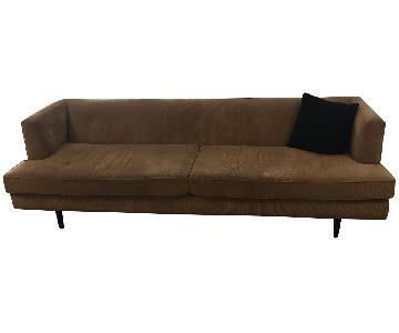 Vintage Edward Wormley Sofa Upholstered in Corduroy
