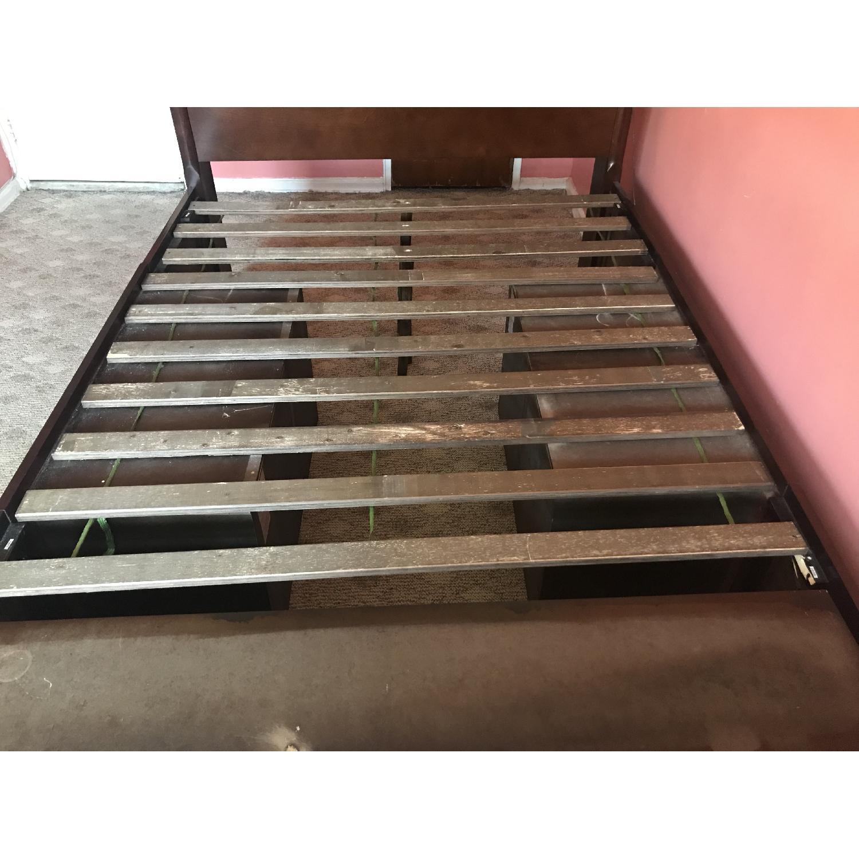 Dark Brown Wood Full-Size Bed Frame - image-4