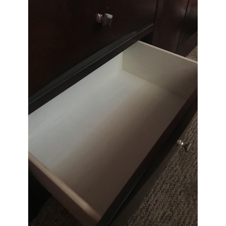 Dark Brown Wood Full-Size Bed Frame - image-6