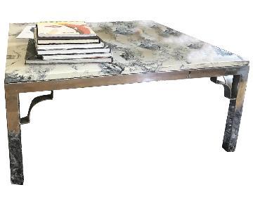Vintage Solid Marble Coffee Table