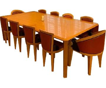 Custom Dining Table w/ 10 Michael Graves Chairs
