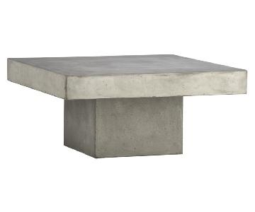 CB2 Industrial Chic Grey Coffee Table