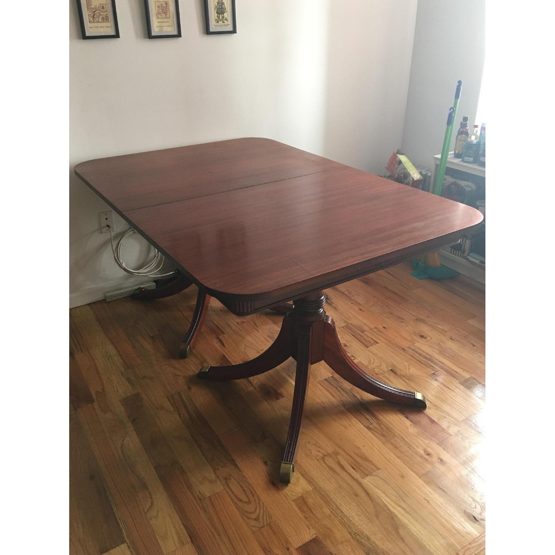Vintage Hardwood Dining Table-0
