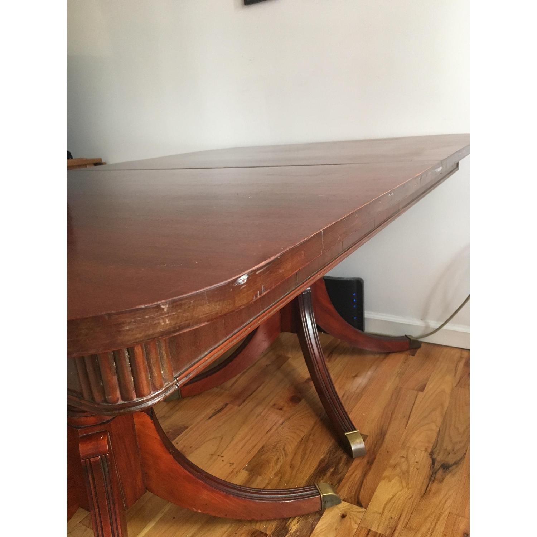 Vintage Hardwood Dining Table-4