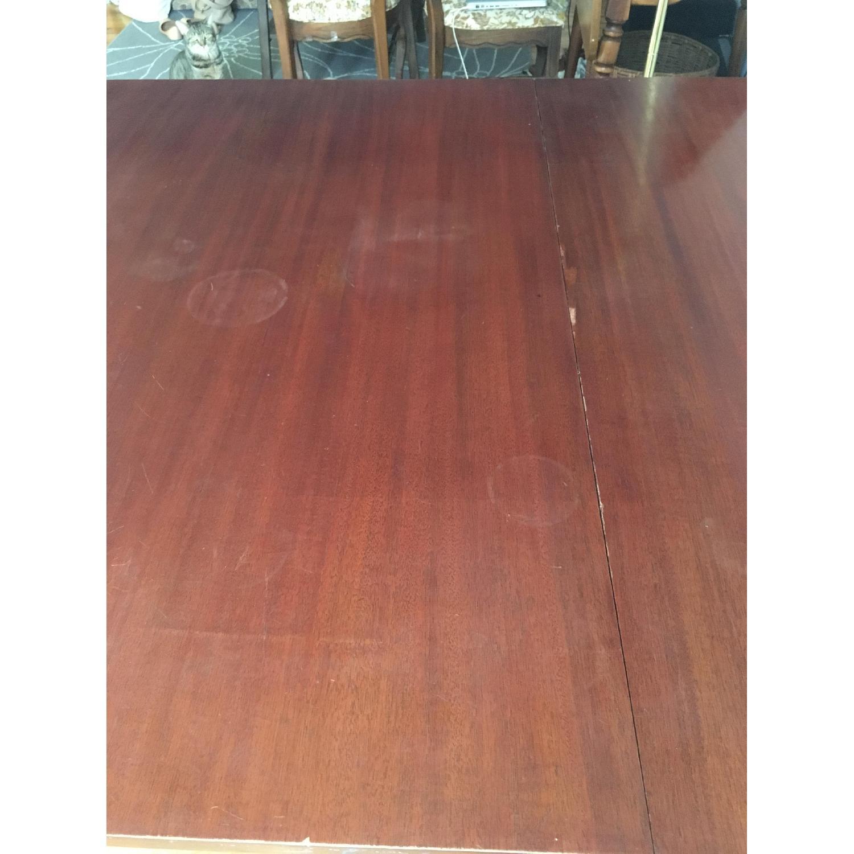 Vintage Hardwood Dining Table-5