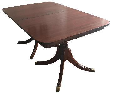 Vintage Hardwood Dining Table
