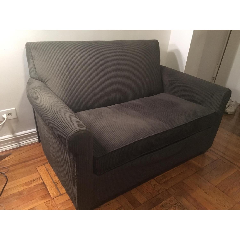 Enjoyable Crate Barrel Twin Sleeper Sofa Aptdeco Ibusinesslaw Wood Chair Design Ideas Ibusinesslaworg