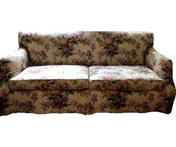 Lewis Mittman Custom Made Floral Sofa