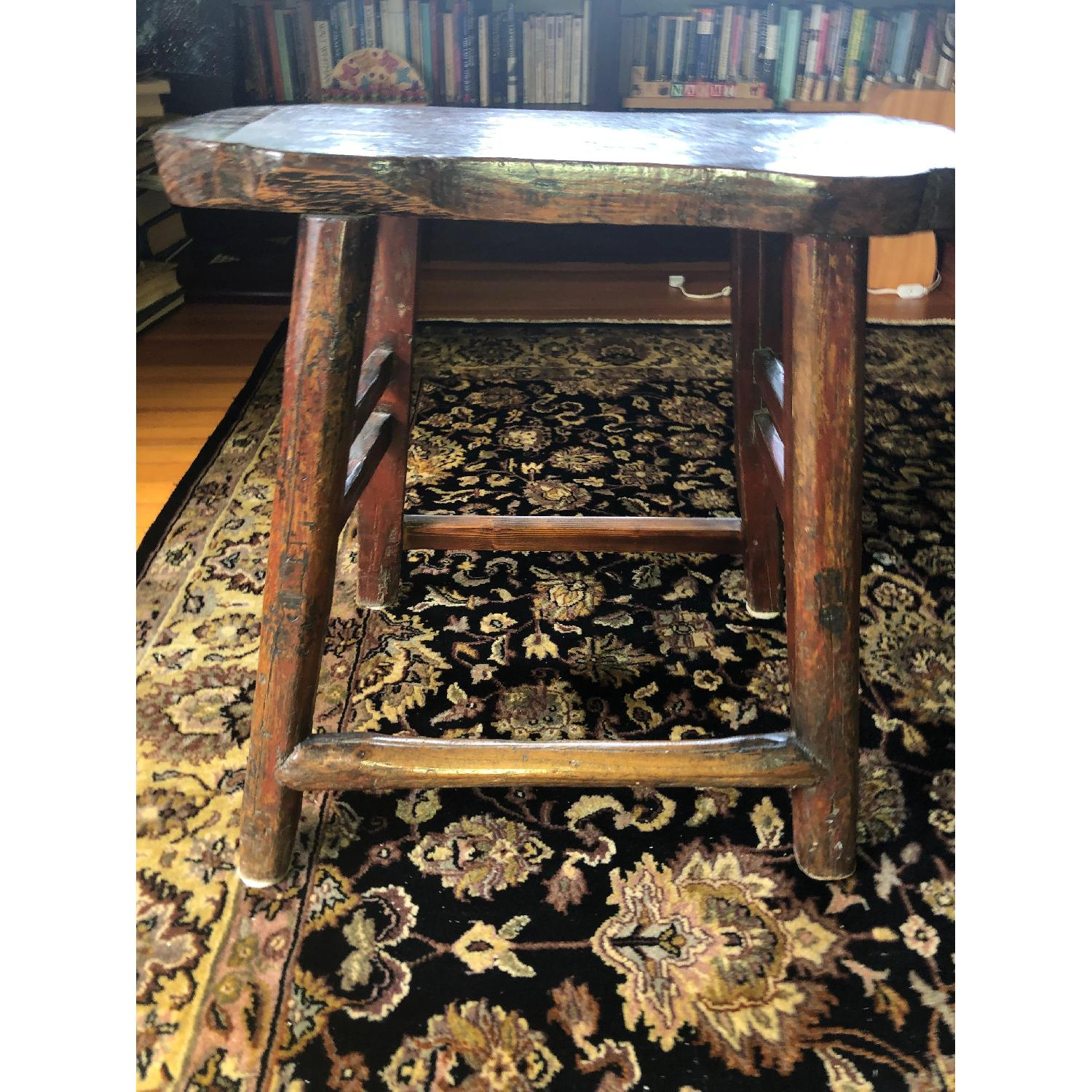 Antique Chinese Stool w/ Customs Sticker - image-3