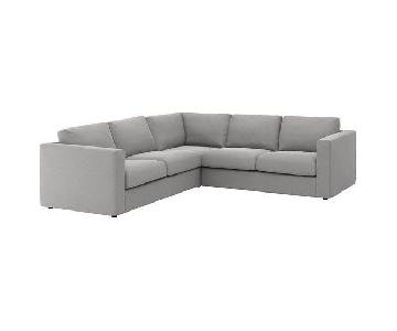Ikea Vimle 4-Seat Corner Gray Sectional Sofa