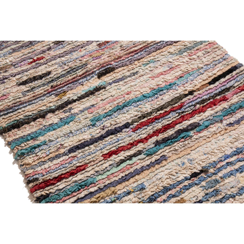 Pink & Beige Wool Runner Rug - image-2