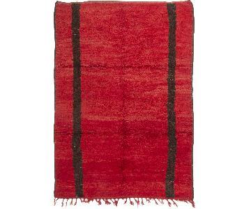 Moroccan Berber Red & Brown Wool Rug