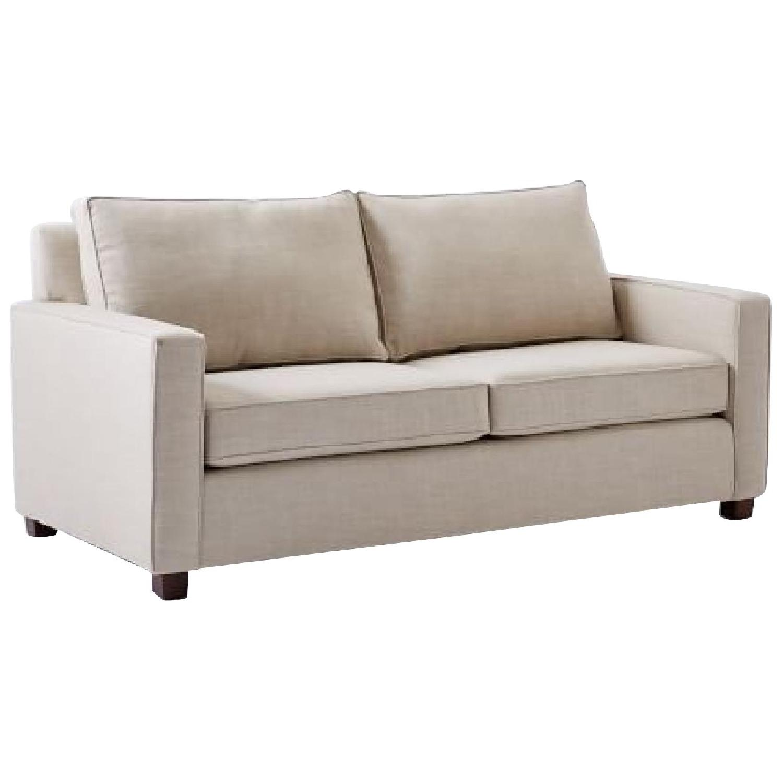 West Elm Henry Sofa in Linen Weave Natural
