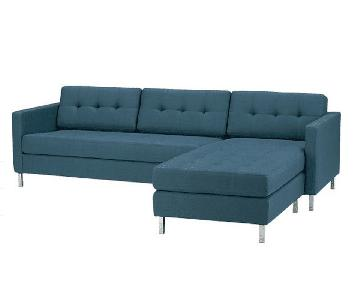 CB2 Ditto II Sectional Sofa in Peacock