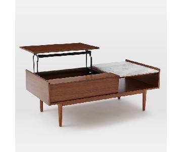 West Elm Mid-Century POP UP Storage Coffee Table