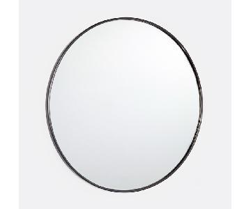 Rejuvenation Round Metal Framed Mirror