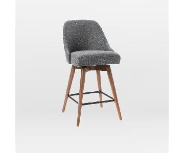 West Elm Mid- Century Upholstered Dining Stool