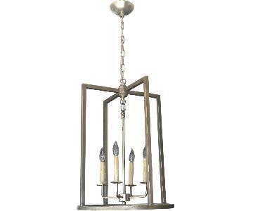 Modern Lantern in Brushed Silver Finish