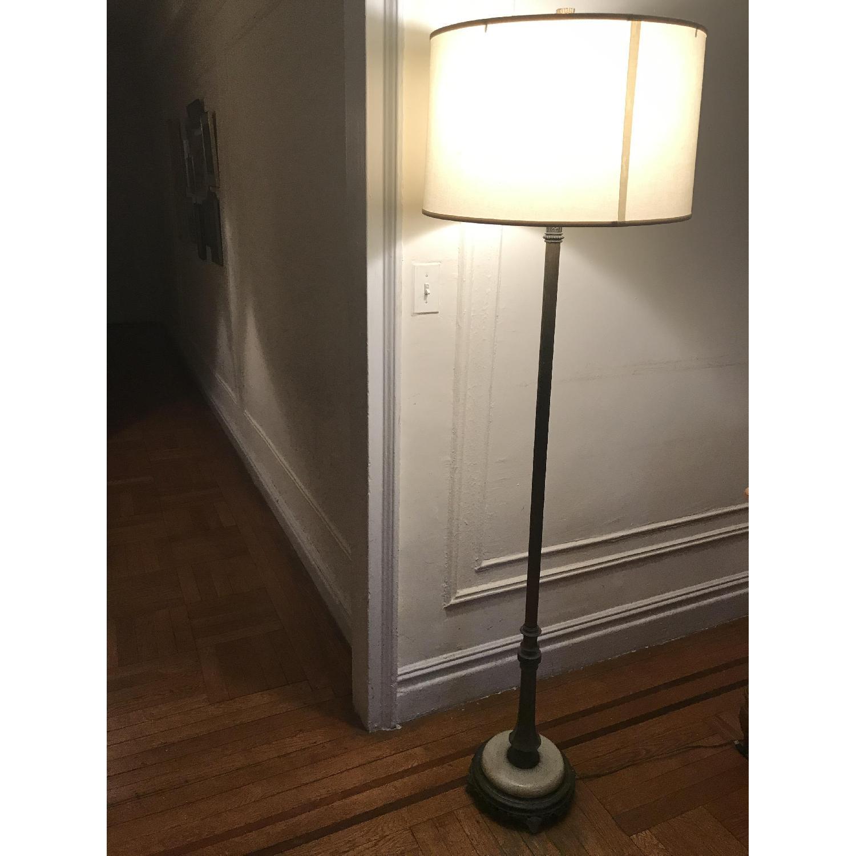 Repurposed Vintage Brass Torchiere Floor Lamp Aptdeco