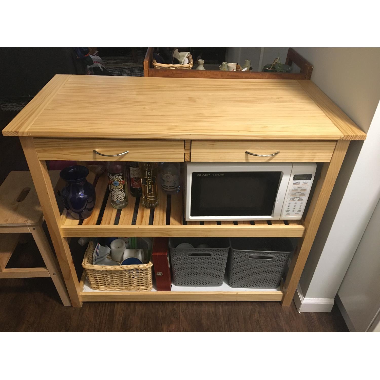 HomCom 45 Wooden Utility Kitchen Cart - image-1