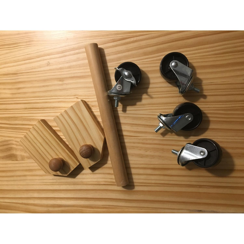 HomCom 45 Wooden Utility Kitchen Cart - image-5