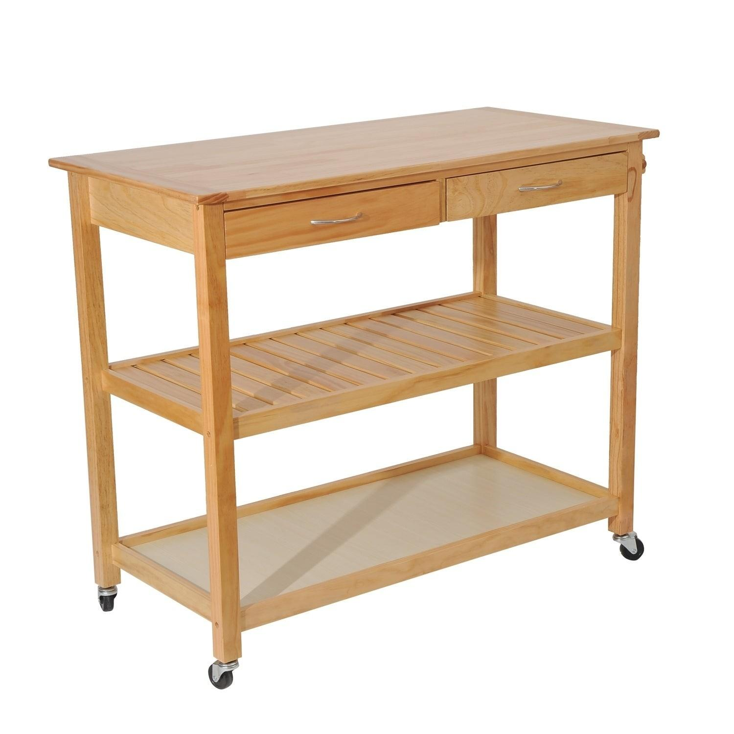 HomCom 45 Wooden Utility Kitchen Cart
