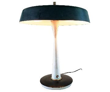 Gaetano Sciolari MCM Table Lamp w/ Black Metal Shade