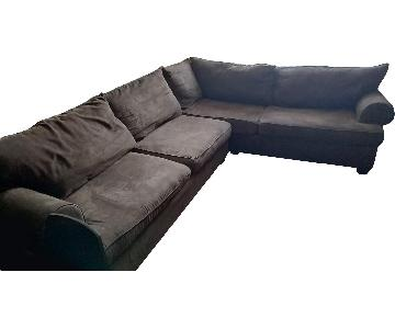 Pottery Barn 2 Piece Sectional Sofa
