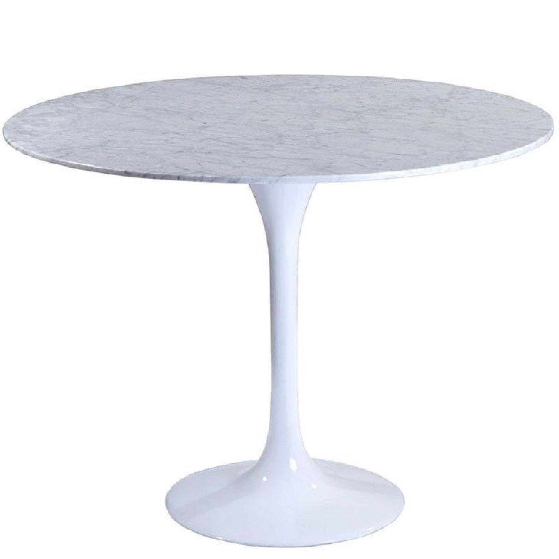 Tulip Saarinen Style Marble Dining Table
