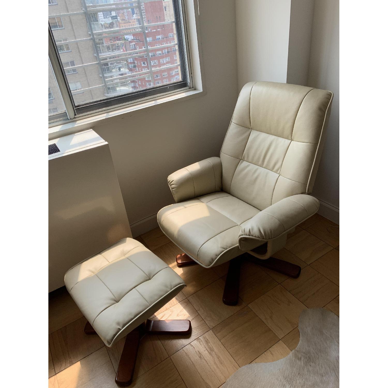 Raymour & Flanigan Carter Reclining Chair & Ottoman-1