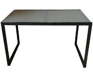 Room & Board Tempered Glass & Steel Desk