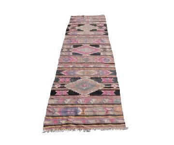Vintage Handwoven Turkish Kilim Tug