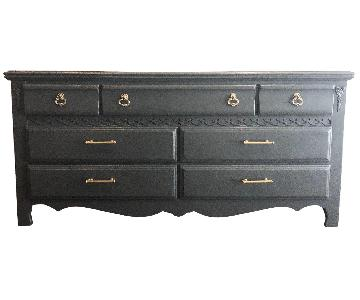 Traditional Style Solid Wood Gray 7 Drawer Dresser