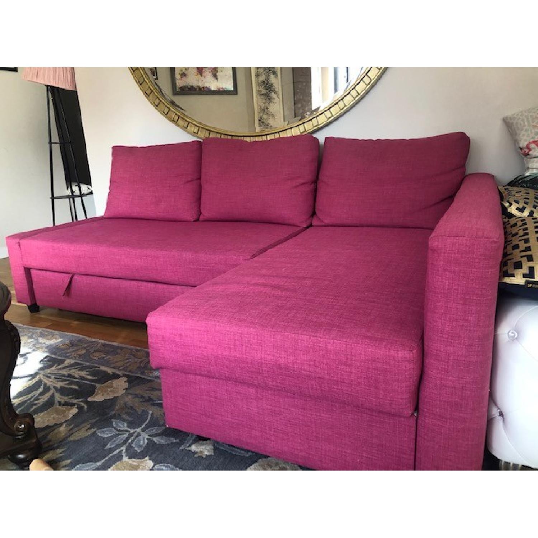 Ikea Friheten Sleeper Sectional Sofa w/ Storage - image-2