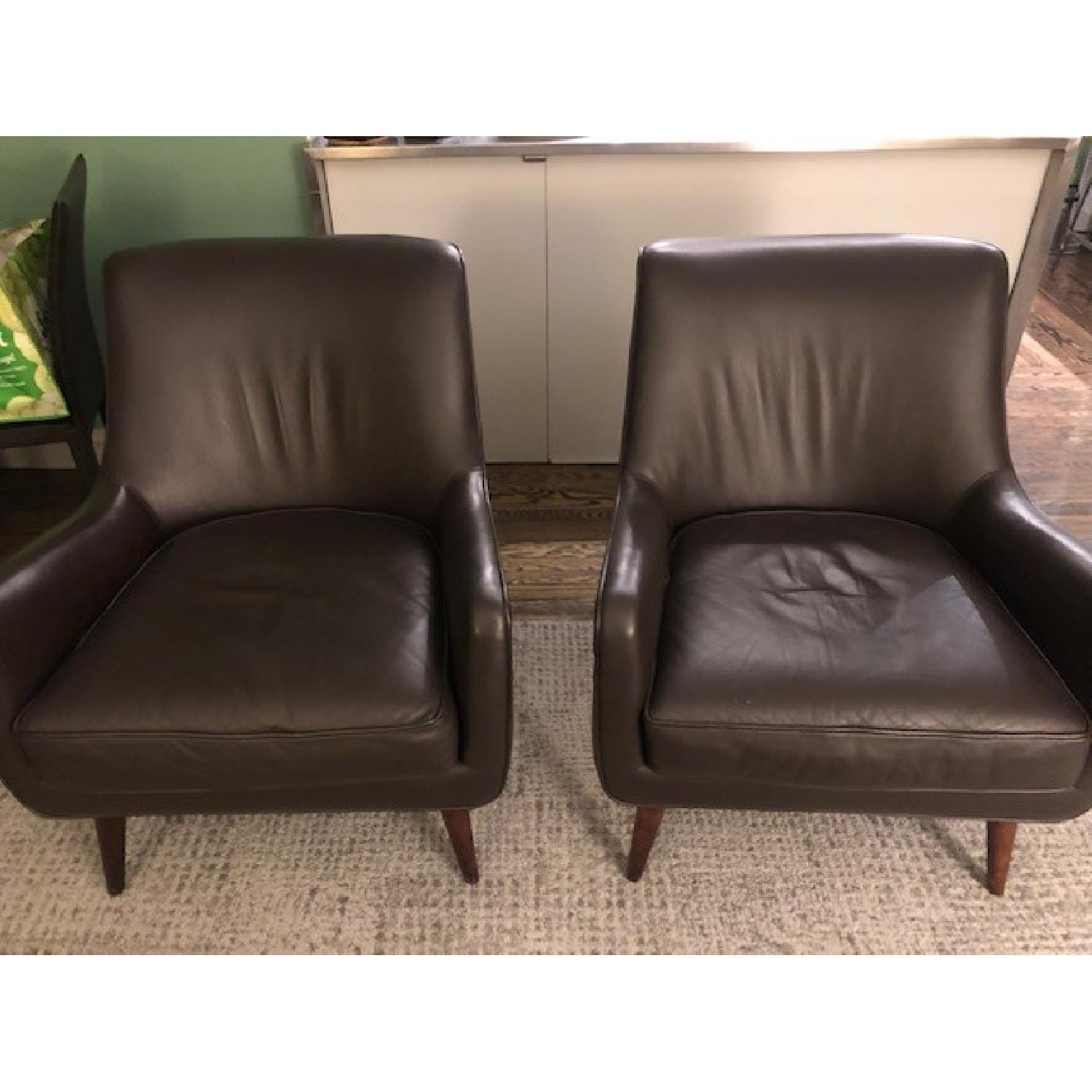 Room & Board Brown Leather Chairs-0