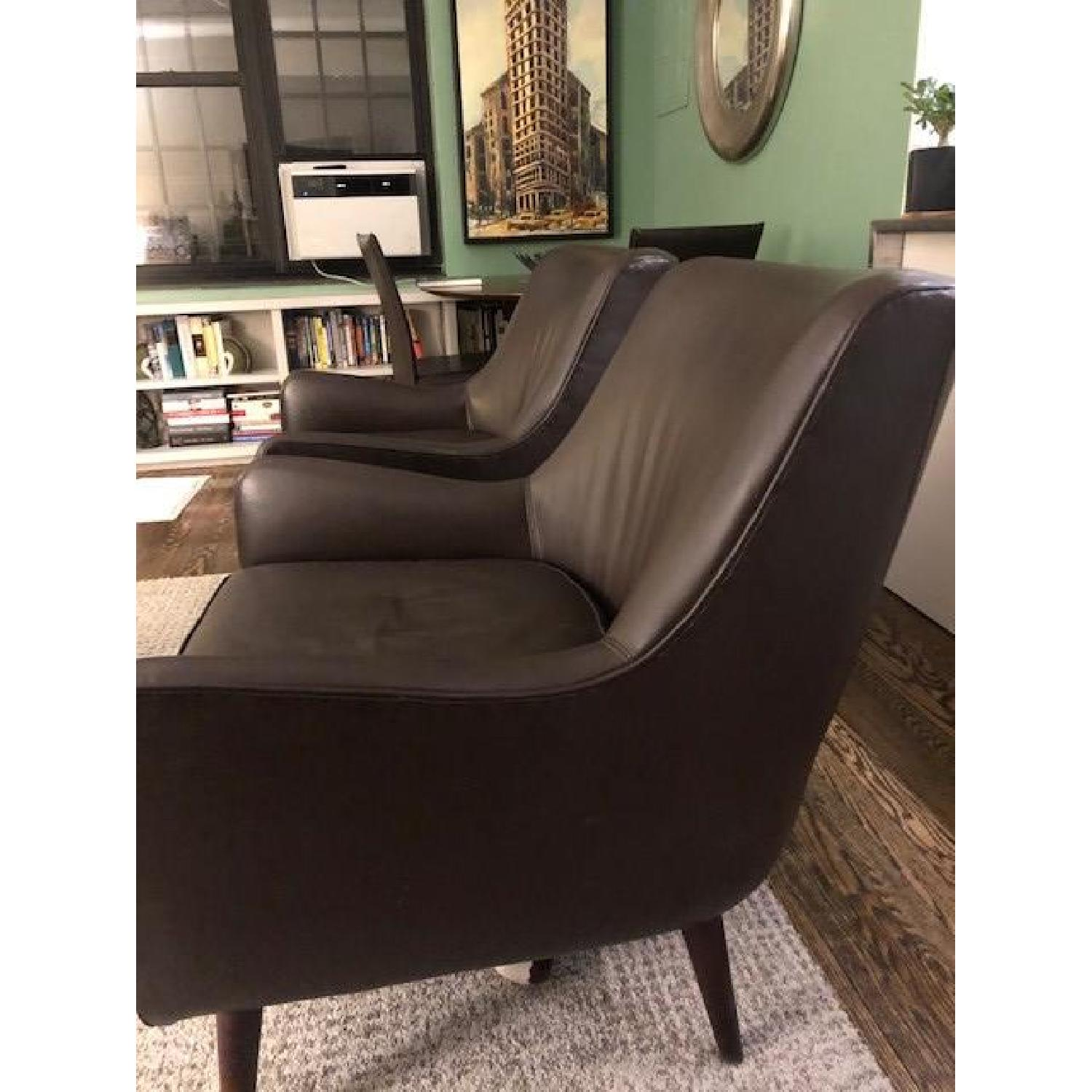 Room & Board Brown Leather Chairs-2