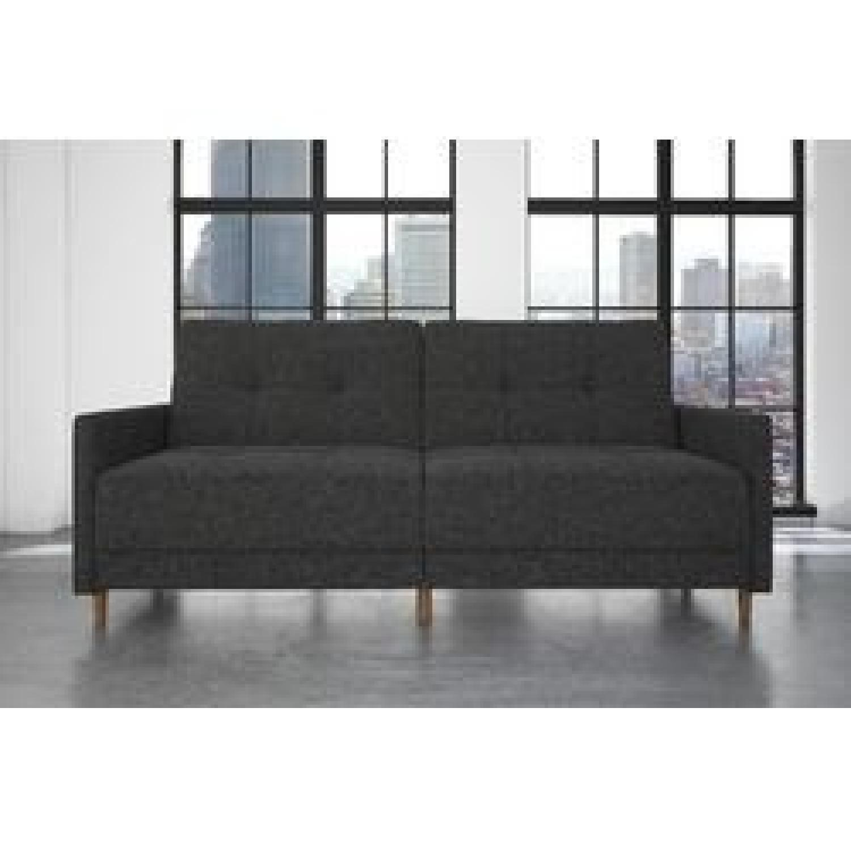 Zipcode Design Ziva Gray Linen Convertible Sofa-0