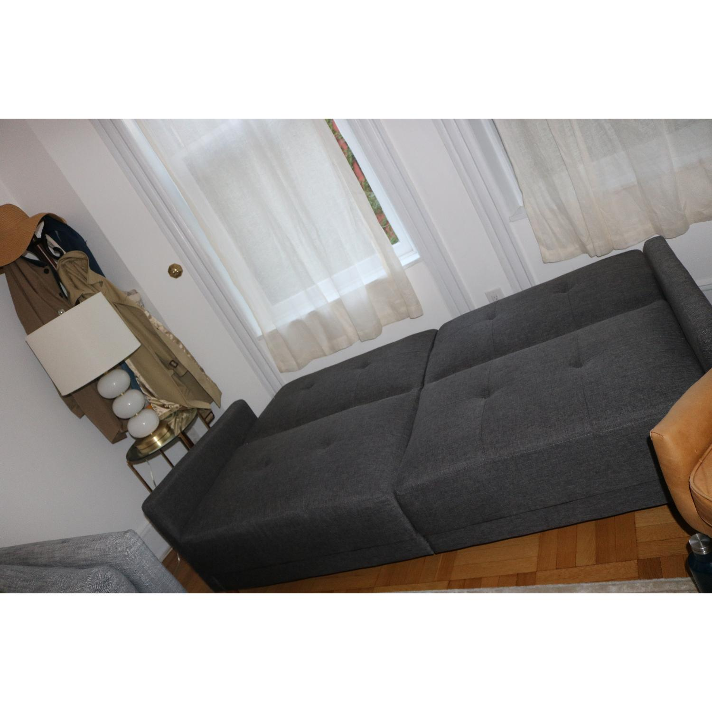 Zipcode Design Ziva Gray Linen Convertible Sofa-1