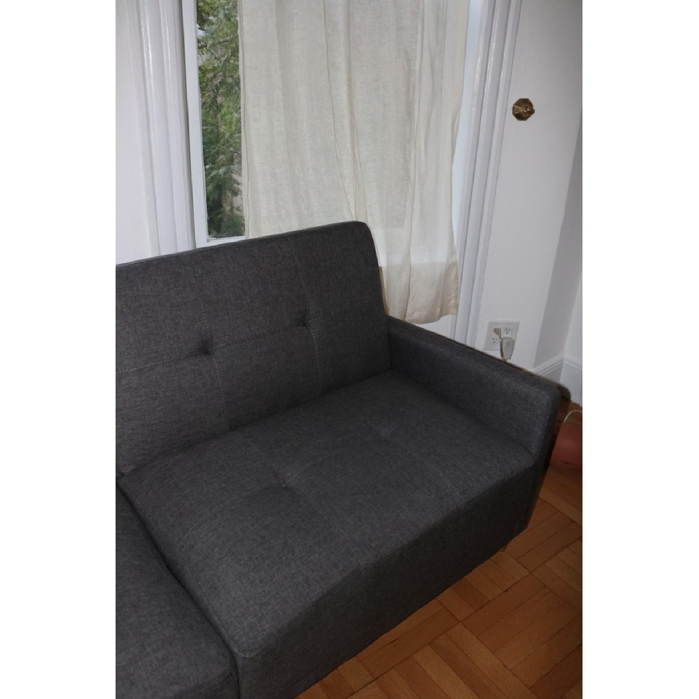 Zipcode Design Ziva Gray Linen Convertible Sofa-2