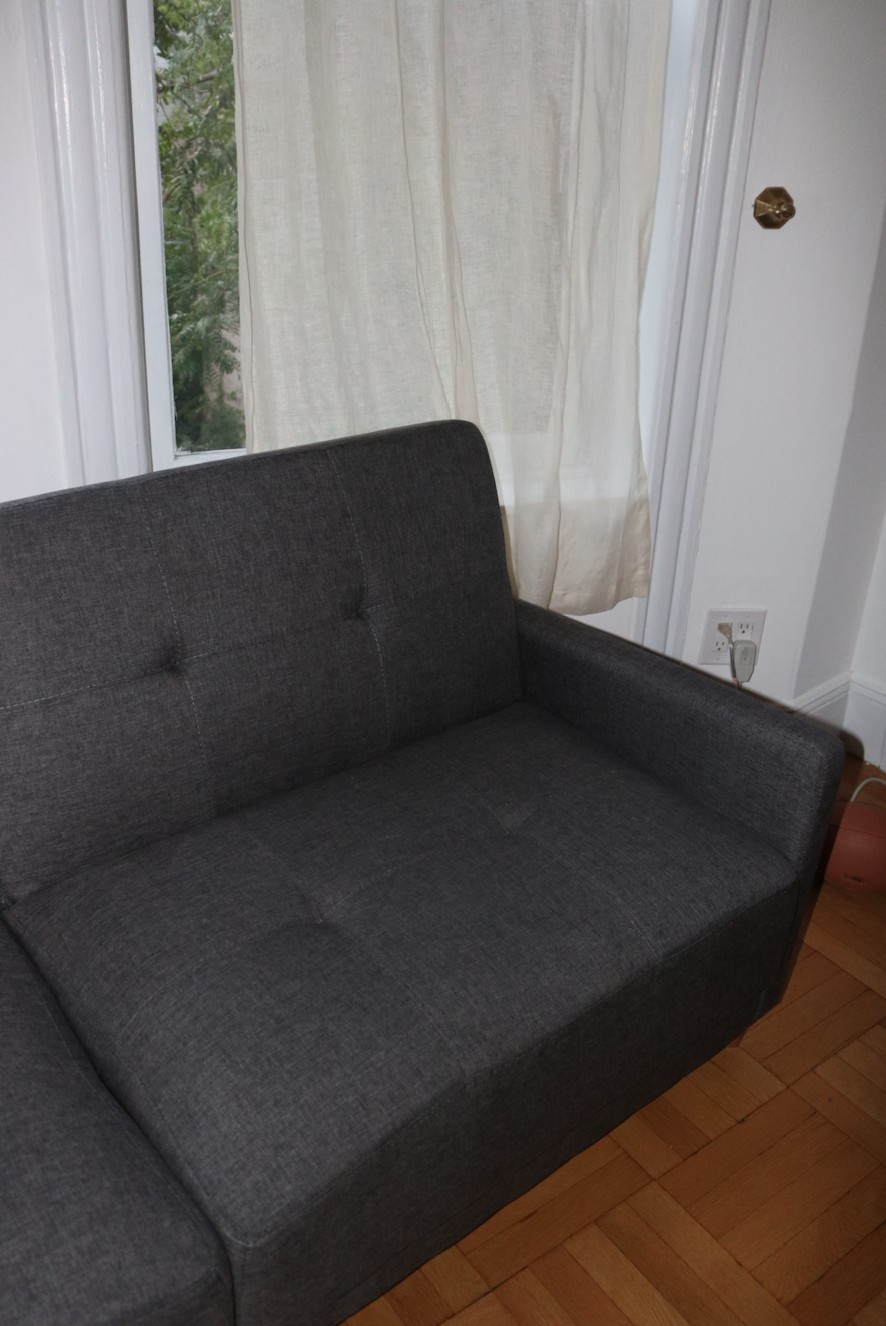 Zipcode Design Ziva Gray Linen Convertible Sofa
