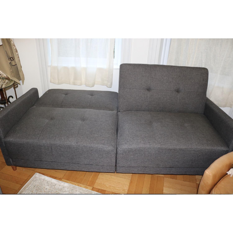 Zipcode Design Ziva Gray Linen Convertible Sofa-3