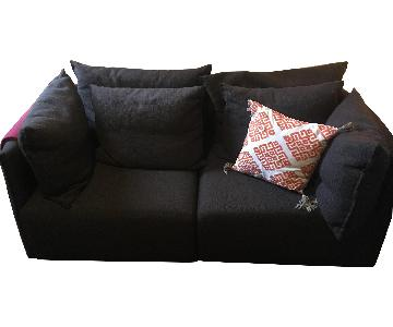 ABC Carpet and Home Dune Sectional Sofa in Chocolate