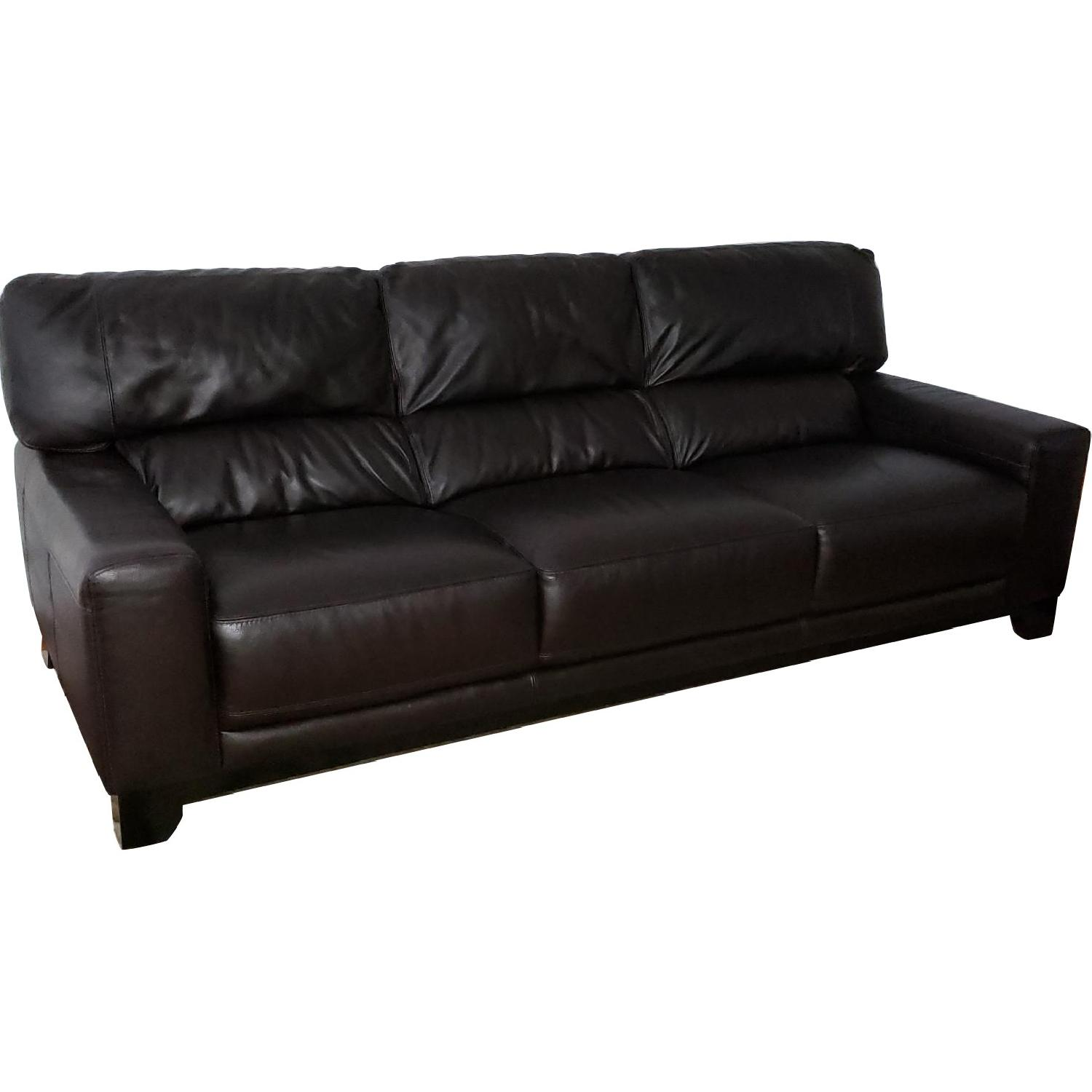 Luke Leather 3 Seater Sofa