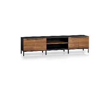 Crate & Barrel Rigby Large Media Console w/ Base