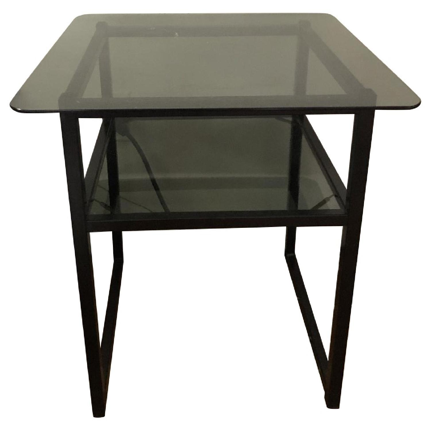 Metal/Glass Side Tables